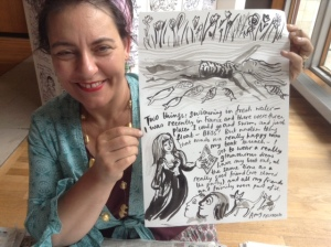 Artist and great human Sophie Herxheimer capturing my 'best self' at the Festival of Love.